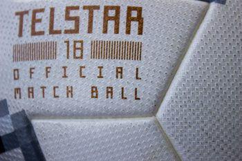 Detailaufnahmen des Adidas Telstar 18